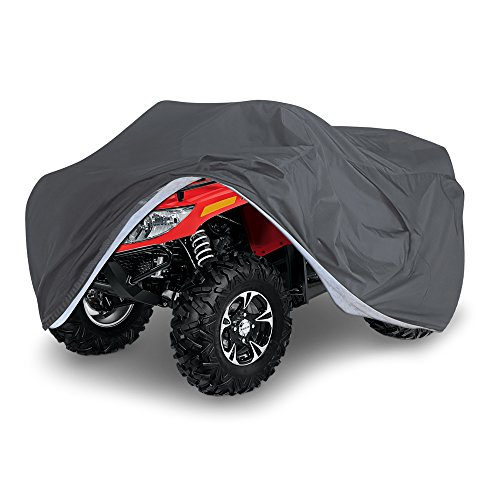 OxGord Executive Storm-Proof ATV Cover - Water Resistant 7 Layers - Ready-Fit / Semi Custom - Fits up to 89 inches