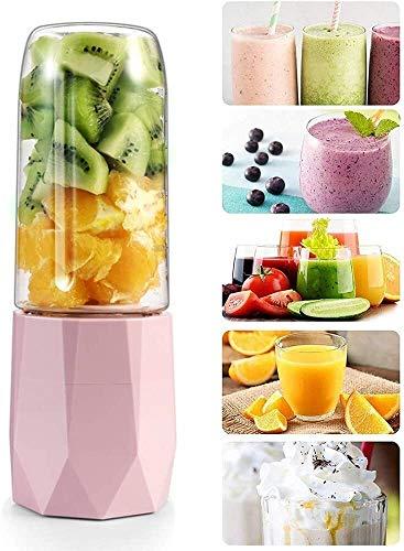 Entsafter Różowy przenośny blender do smoothie High Speed  Fruit Blender do smoothie Ice Crush przypraw 400 ml 80x250mm XMJ