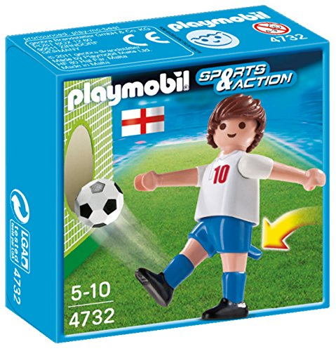 Playmobil Fútbol - Fútbol: Jugador Inglaterra (4732)