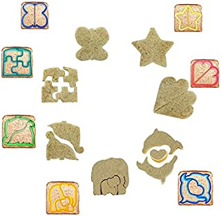Sandwich Cutters Set 7-Shapes Bread Toast Cookies Mold Cake Biscuit Food Cutter For Kids Lunch Box