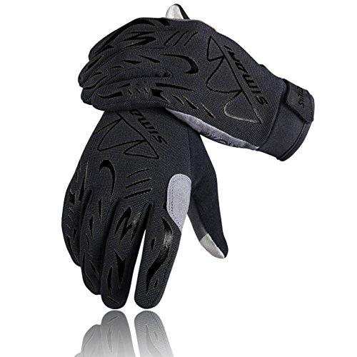 SIMARI Cycling Gloves Mountain Bike Gloves for Men Women Full Finger Touch Screen Biking Gloves Shock-Absorbing Anti-Slip