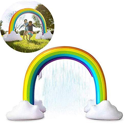 AJH Groot Waternevel Speelgoed Opblaasbaar Regenboogbrug Splash Speelmat Familie Zomer Spray Buitenspeelgoed Waterspeelgoed voor kinderen Baby's en peuters