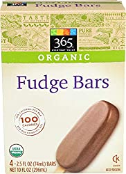 365 Everyday Value, Organic Fudge Bars, 4 ct, (Frozen)