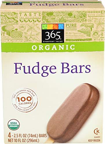 365 Everyday Value, Organic Fudge Bars, 4 ct, (Frozen)