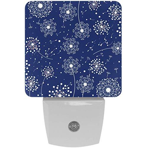 Paquete de 2 luces LED de noche enchufables para hacer un deseo con sensor del atardecer al amanecer para habitación de los niños