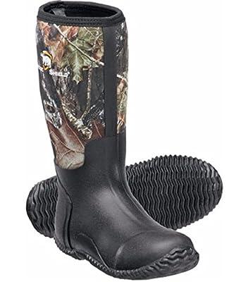 Arctic Shield Waterproof Durable Rubber Neoprene Outdoor Boots (8, Camouflauge)