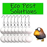 Premium Bird Repellent Discs, Reflective Hanging Device To Keep Birds Away Like Woodpeckers, Pigeons, Ducks, Herons, Grackles, Geese & Other Pest Birds. Protect Property & Crops From Damage & Mess.