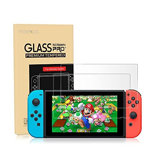 Nintendo Switch Schutzfolie, 2 Stück Switch Gehärtetem Glas Screen Protector Anti-Water,Oil für Nintendo Switch Konsole