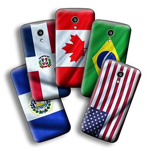 atFolix Designfolie kompatibel mit Motorola Moto G 2. Generation 2014, wähle Dein Lieblings-Design aus, Skin Aufkleber (Flaggen aus Amerika)