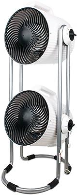 min MinMin Fan Turbine Air Convection Cycle Fan Household Double Fan DIY Purifier - White Freestanding Electric Fan