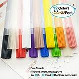 3D Stift Filament PLA NanHong 3D Stift Zubehör ,Aufbewahrungs box kit 3D Pen Filament PLA 1.75mm 6 Farben Glow in den dunklen Ink Filament PLA ,12 Farben/Länge 32 Fuß 3D Drucker Stift Filament in geraden Form