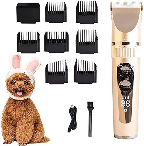 XIAODU Clippers eléctricos para Mascotas, Clippers para el Cabello, Suministros de Gatos y Perros, Teddy Clippers Recargables y Dispositivos de Afeitado