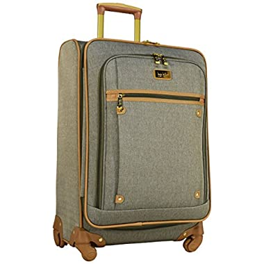 Nicole Miller New York Taylor 24  Expandable Spinner Suitcase (Green)