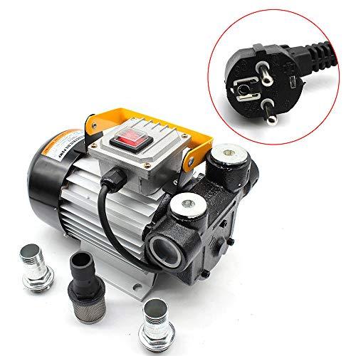 OBLLER Dieselpumpe selbstansaugend Heizölpumpe Fasspumpe Diesel Kraftstoffpumpe 4m 230V