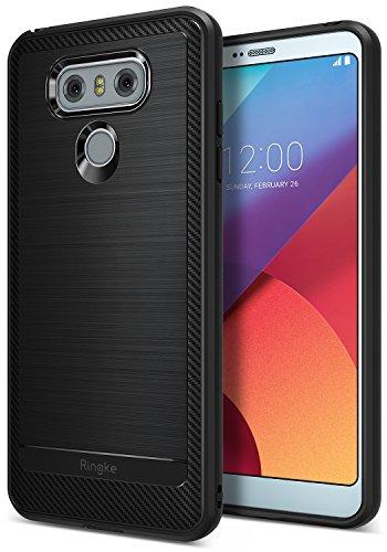 Ringke Cover LG G6, [Onyx] [Forza Resistente] Durevolezza Flessibile, Durevole Antiscivolo, Protezione Cadute Custodia Difensiva in TPU per Custodia LG G6, Cover LG G6 Plus - Nero (Black)