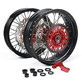 Set di ruote + ruota posteriore set + staffa in disco freno rotore + pinza freno anteriore Honda CR125R CR250R