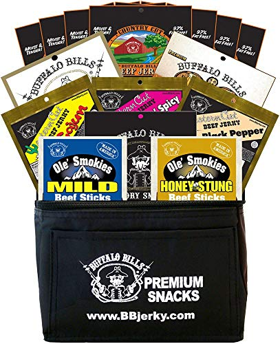 Buffalo Bills 15-Piece Low Carb Lovers Beef Jerky & Beef Stick 6-Pack Gift Cooler (2 carbs or less)