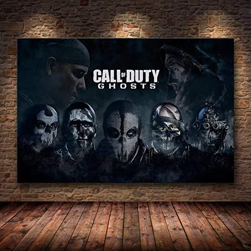 Cartel de Arte de Pared de Lienzo de Call of Duty e impresión de Lienzo Pintura Cuadro Decorativo para decoración del hogar del Dormitorio Sin Marco 50X70cm,(YF-83)