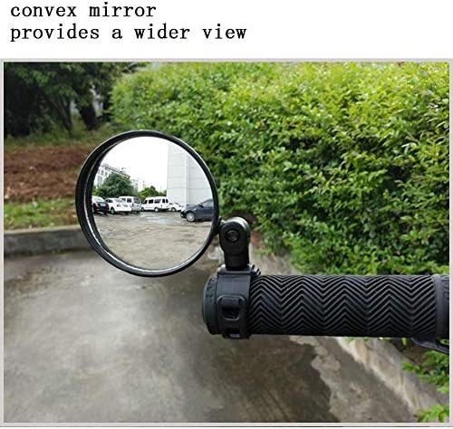 Hafny Réglable Vélo rétroviseur vélo Dos Miroir Réflecteur