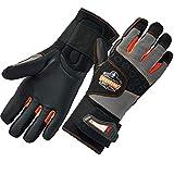 Ergodyne ProFlex 9012 Anti-Vibration Work Gloves, ANSI/ISO Certified, Full Fingered, Wrist Support, Large,Black