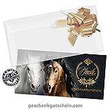 50 Premium Geschenkgutscheine zum Falten + 50 Kuverts + 50 Schleifen für Reitsport, Pferdesport, Reitsportartikel, Reitzubehör SP239 pos-hauer