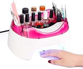 2 in 1 36W UV LED Nail Lamp Dryer with Storage function for Gel Nail Polish Curing Manicure/Pedicure and Multi angle Rest- for Home DIY Nail Art
