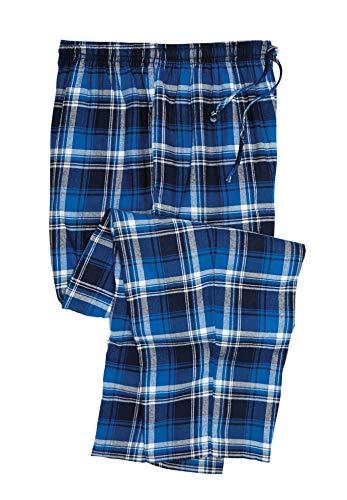 KingSize Men's Big & Tall Flannel Plaid Pajama Pants - Tall - 3XL, Twilight Plaid Pajama Bottoms
