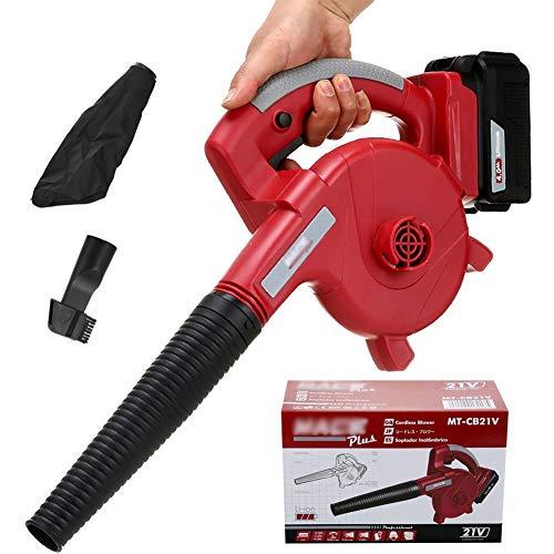 ALGWXQ Sopladora de Hojas eléctrica - Sopladora y aspiradora de jardín 3 en 1 - Aspiradora y trituradora Ligera, Cambio de Velocidad Continuo (Size : Single Battery 2.0ah)