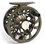 Colorado Fly Fishing Reel 5 6 Weight with Drag Large Arbor, Multi-disc Drag Wheel, Ergonomic Left/Right Handed Fishing Fly Reel, Fully Sealed Fresh Salt Water Fly reels 5 6 wt Trout Bass Neoprene case