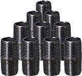 Supply Giant 3/4 Inch Black Pipe Nipple,...