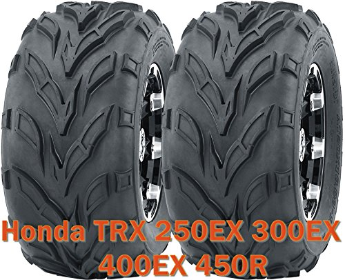 Set 2 Sport ATV Tires 22x7-10 fit for Honda TRX 250EX 300EX 400EX 450R front