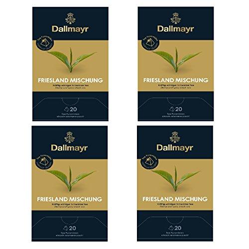 4 x Dallmayr Schwarzer Tee Frieslandmischung 20 Pyramiden x 2,5g