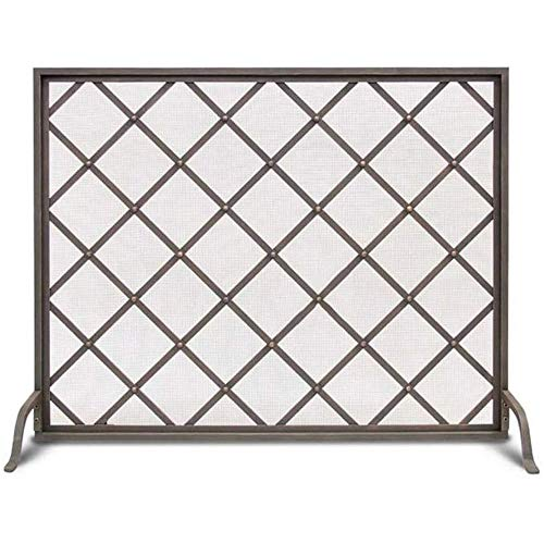 Lowest Prices! LJFPB Classic Fireplace Screen Black Mesh Single Flat Panel Design for Baby Pet Safet...
