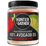 Hunter & Gather Mayonesa de Aceite de Aguacate con Chipotle y Lima 175g | Hecho con Aceite de Aguacate Puro y Yema de Huevo de Gallina Campera Inglesa | Paleo, Ceto / Keto, Libre de Gluten y Azúcar