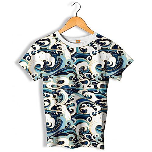 FISHIKII | Camiseta Manga Corta Waves - 80% Poliéster - 20% Licra - Todas Las Temporadas 2021 - Hombre | Multicolor | XS