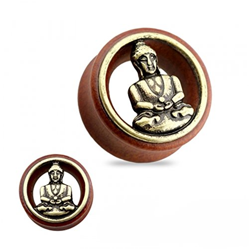 Dynamique Pair of Buddha Hollow Organic Sono Wood Tunnel Saddle Plugs