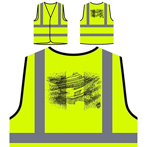 Paris City Travel Funny Francia Chaqueta de seguridad amarillo personalizado de alta visibilidad e300v
