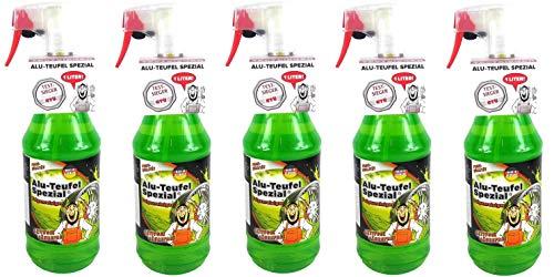 Tuga 5 x 1 Liter Alu-Teufel Felgenreiniger Spezial Säurefreies Aktivgel für Felgen und Radkappen. Biologisch abbbaubar
