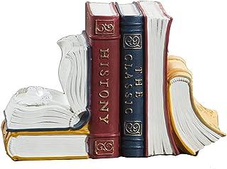 نهايات الدفاتر المزخرفة من الراتينج النحت القديم للكتب ديكور المنزل كتاب ينتهي لعقد كتب ينتهي كتاب للمكتب