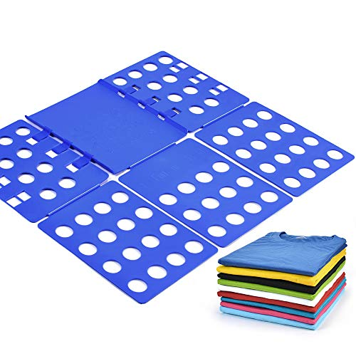 Geniusidea T Shirt Clothes Adjustable PP Plastic Folding Board Flip Folder, Blue