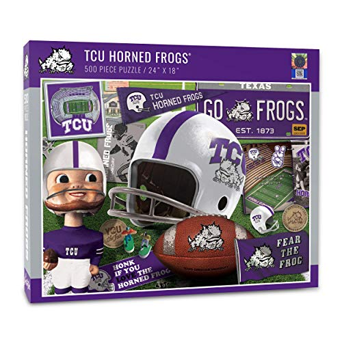YouTheFan NCAA TCU Horned Frogs Retro Series Puzzle - 500 Pieces, Team Colors, Large -  YouTheFan., 0950493