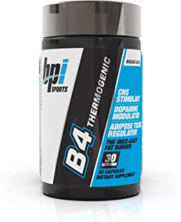 BPI Sports B4 – Extra-Strength Fat Burner – Keto-Friendly – Appetite Suppressant – Caffeine, Niacin, Quercetin, Yohimbine – 30 Servings – 710mg