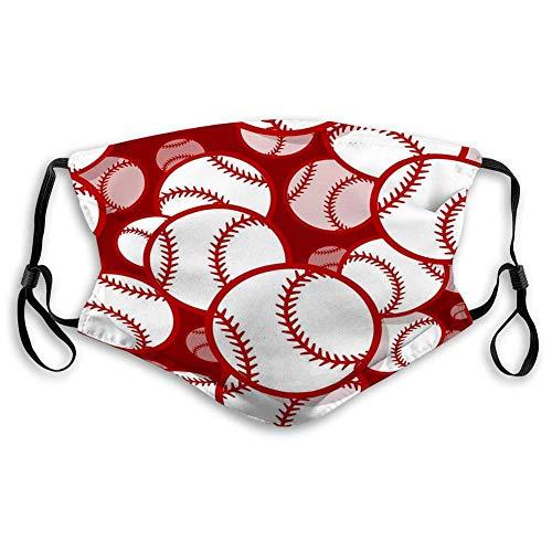 Mouth Mask Unisex Face Mask for Teens Men Women Baseball Softball Ball Graphics Baseball Soft Printed Cover