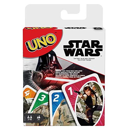 Mattel Games-Uno Versione Star Wars, Gioco di Carte, GPP00