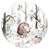 Little Deco Wandtattoo Kinderzimmer Wandbild Tiere des Waldes Wandsticker für Kinder Wanddeko Spielzimmer Wandaufkleber Selbstklebende Tapete Schlafzimmer DL570