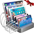 Hercules Tuff Charging Station Organizer for Multiple Devices - 6 Short Mixed Cables Included for Cell Phones, Smart Phones, Tablets, and Other Electronics… from hercules tuff