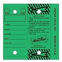 グリーン – 純正Versa-Tagsキータグ、自己保護(1箱あたり250タグ、メタルリング付き)。