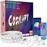 Cozylady Alexa LED Strip Lights 50FT - Smart LED Light Strips Compatible with Alexa, Google Home Controlled by APP - Music Sync LED Lights Strip for Bedroom Decor, Room Decor,Children's Room