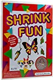 Dabit Shrink fun Paper 20-Pack, Shrink Sheets For Boys And Girls, Clear Shrink Film Sheets, Kids Activities For All Ages, Bonus Traceable Pictures And Keychains
