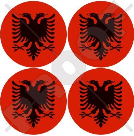 Albanien Albanisch, Shqiperia (5,1cm) Vinyl bumper-helmet Sticker, Aufkleber X4